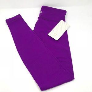 NWT Lululemon Wunder Under M/R Pant Purple Size 4